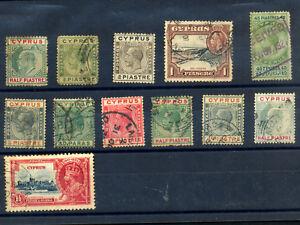 Cyprus:12 Used Stamps,King George V ** Bargain **