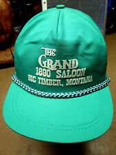 GRAND HOTEL 1890 Saloon vtg baseball cap Big Timber hat Montana OG