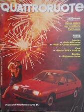 Quattroruote 339 1984 Prova Alfa Romeo Arna SL. Bentley Mulsanne Turbo.Delta HF
