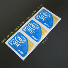 3x intel Core 2 Duo 2009 Version Sticker 18mm x 24.5mm - Desktop size