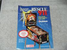 RESCUE 911 GOTTLIEB PINBALL     ARCADE GAME  FLYER