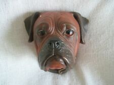 Vintage Dog Bosson's Boxer Head Chalk Ware England 1968