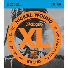 D'Addario EXL110 XL Electric Guitar Strings Regular Light 10-46