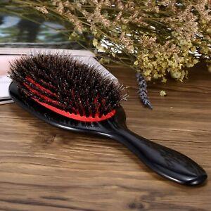 Boar Bristle Mix Nylon Hair Brush Plastic Paddle Extension Hairbrush Salon New