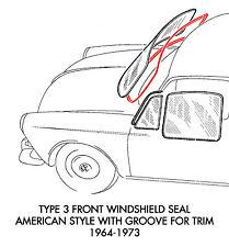 1969 vw fastback windshield