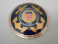 United States Coast Guard enameled metal plaque license plate topper
