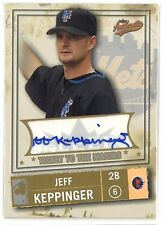 2005 Fleer 225 /250 Jeff Keppinger Autograph Ticket to the majors New York Mets