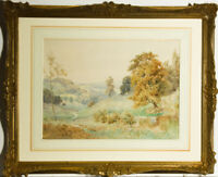H. Marten - Signed Early 20th Century Watercolour, Summer River Landscape