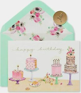 Papyrus Gemmed Cakes Happy Birthday Greeting Card