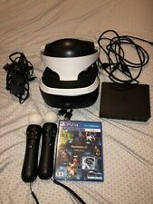 PS4 Sony PlayStation VR Virtual Reality Headset Complete Bundle CUH-ZVR1