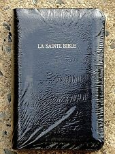 French Bible, La Sainte Bible - Louis Segond 1910 Leather, Black, Handheld