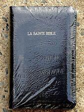 French Bible, La Sainte Bible - Louis Segond 1910 Leather, Black, Handheld