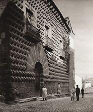 1922 Vintage SPAIN Casa de los Picos Peasant Street Architecture Art ~ HIELSCHER