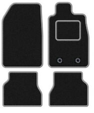 PEUGEOT 107 2005 ONWARDS TAILORED BLACK CAR MATS WITH SILVER TRIM