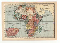 Antique Map Of Africa W&AK Johnston 1897