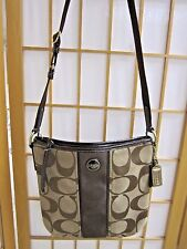 Coach Signature Logo Crossbody Brown  11 x 11  G1392 F21905