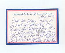 actress Julie Harris & actor Hal Linden SIGNED letter programs lot Barney Miller