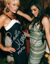 Paris Hilton & Kim Kardashian signed autographed 8x10 photograph holo COA