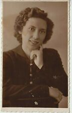 1950s Girl Beautiful Young Woman Fashion Hairstyle Russian Vintage Photo