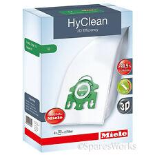 4 x Genuine Miele S7000 S7210 Type U 3D HyClean Vacuum Hoover Bags & Filter Kit