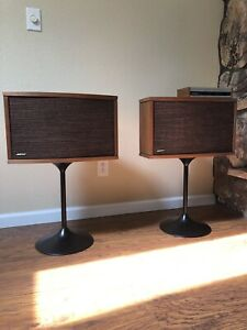 Vintage Bose 901 Series VI Speakers + Tulip Stands and Equalizer!