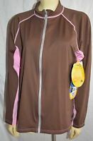 NEW NWT front zipper DuckSkinz Women's Jacket  SPF & UPF sun Protection size L