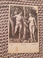 Adam and Eve - Albrecht Dürer - Vintage Postcard