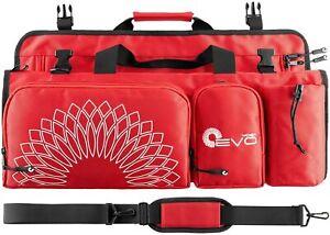 Large Premium Yoga Carrier Open End Yoga Mat Bag, 5 Large Pockets, Fits Any Mat