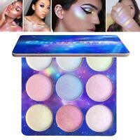 US 9 Colors Highlighter Palette Face Brighten Makeup Powder Eye Shadow Glow Kit