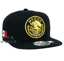 MEXICAN hat Snapback MEXICO Federal Logo Embroidered Baseball cap- Black/Gold
