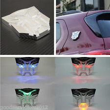 3D Transformers Autobots Logo Solar Power LED Auto Exterior Decor Flashing Light