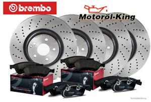 Brembo Bremsscheiben gelocht + Beläge SKODA OCTAVIA III RS VA 340MM + HA 272MM