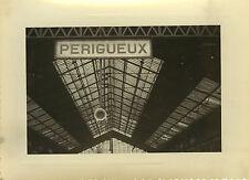 PHOTO ANCIENNE - VINTAGE SNAPSHOT - GARE PÉRIGUEUX TOIT PLAFOND PANNEAU -STATION