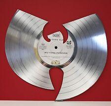 Wu-Tang Laser Cut Platinum LP Record Limited Edition Wall Art Display