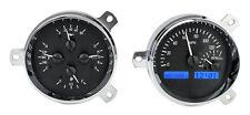 Dakota Digital 51 52 Chevy Car Analog Dash Gauge System Black Alloy Blue VHX-51C