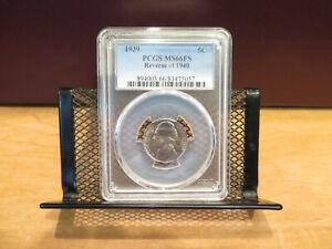 1939 Jefferson Nickel Reverse Of 1940 PCGS MS66FS skcj0001