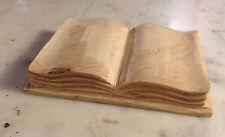libro santi San Vincenzo accessorio statua restauro legno 9 cm x 6,5 cm