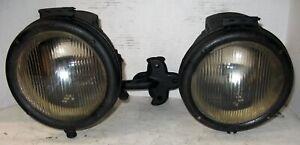 MACK BULLDOG AB AC PAIR GAS (CARBIDE) SIDE LAMPS TEENS/TWENTIES CHAIN DRIVE