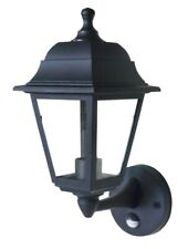 LyvEco 4 Panel Outdoor Security Wall Lantern Lamp Light with PIR - 100W - Black
