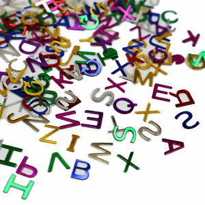 50Gram Assorted Alphabet Letter Number Sequins Loose Confetti Craft Nail Art Tip