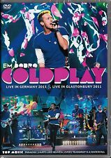 DVD COLDPLAY  2 SHOWS   LIVE in  GLASTONBURY / GERMANY  2011     DVD