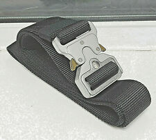 Mens Heavy Duty Military Black Belt Army Tough Silver Buckle Strong Tactical USA