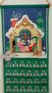 Avon Vtg Christmas Advent Calendar 1987 Replacement Mouse Santa Mrs Claus Green