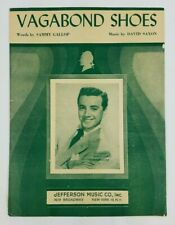 Vintage Sheet Music ~ Vagabond Shoes ~ 1949 ~ Vic Damon Cover