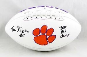 Tee Higgins Autographed Clemson Tigers Logo Football- Beckett W *Black