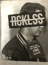 Young & Reckless Y&R Los Angeles Police Dept Mug Shot Dream Limited Men TSHIRT L
