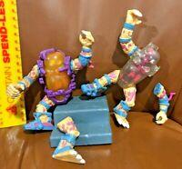 LOT OF 2 VINTAGE 1980S PLAYMATES MUTAGEN MAN ACTION FIGURES  NINJA TURTLES TMNT!