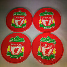4 x Liverpool Coasters - 4 Liverpool Rubber Coasters - Ideal Football Gift