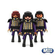 playmobil® 3 x Grundfigur: Samurai | Mongole | Asiate | Ritter lila | gold Set