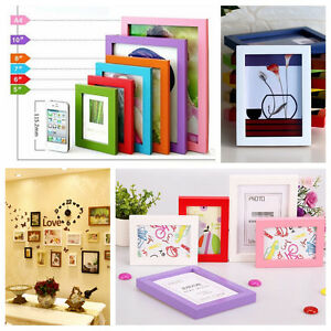 """Wall Frame A4/5""""/6""""/7""""/8"""" Multi-size Room Decor Wooden Picture Photo Box Hot"""